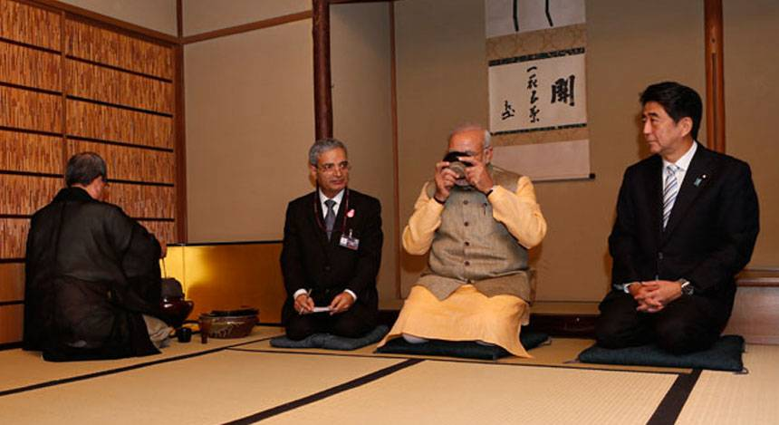 Chai pe charcha to drums and flute: How Modi floored Japan